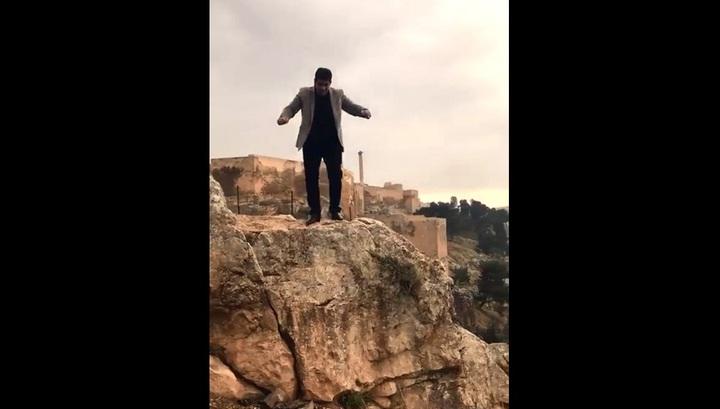 Отец восьмерых детей свалился со скалы в Турции во время праздничной записи