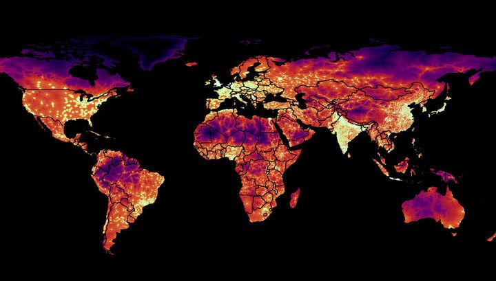 Добраться до цивилизации: новая карта отражает благосостояние народов мира