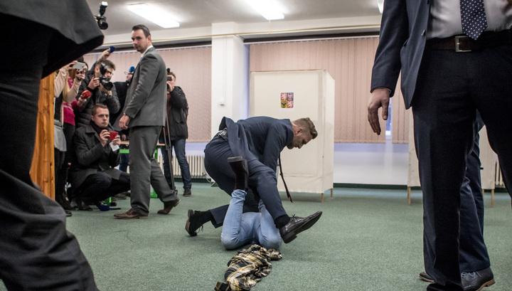На президента Чехии напала украинка