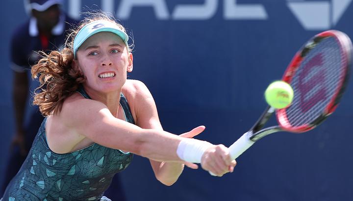 Теннисистка Александрова проиграла свой первый финал турнира WTA