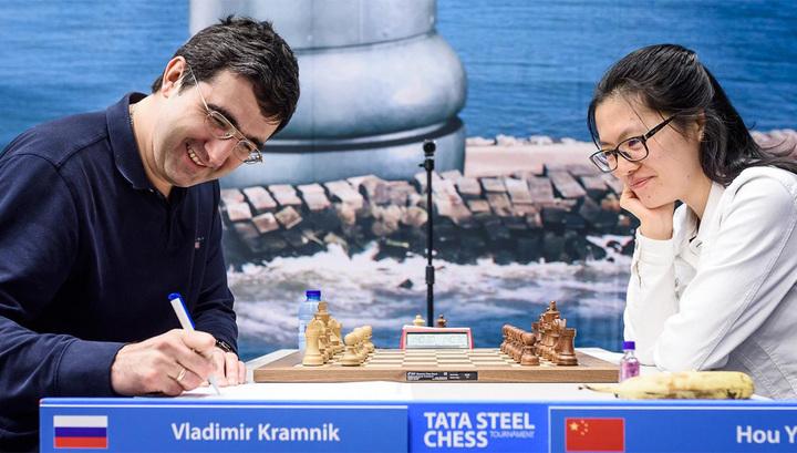 Шахматы. Крамник и Карякин скромно стартовали в Вейк-ан-Зее