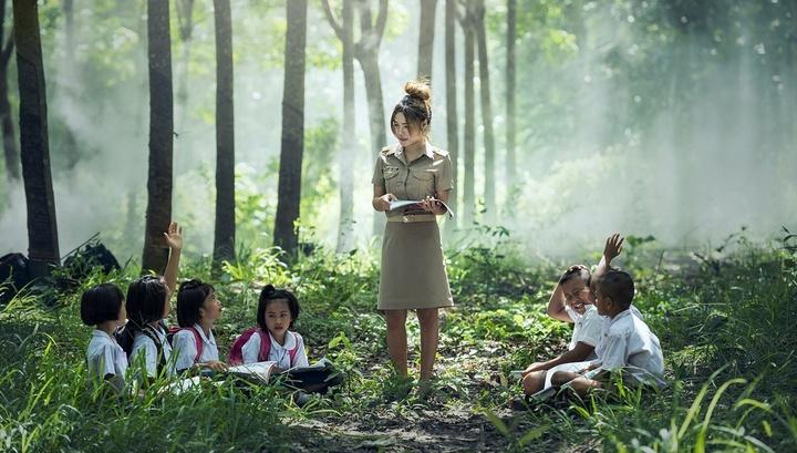 Уроки на свежем воздухе помогают детям быть более собранными и концентрировать внимание на уроках вдвое дольше.