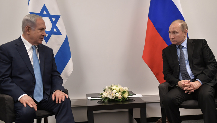 Путин и Нетаньяху встречаются в Еврейском музее в Москве