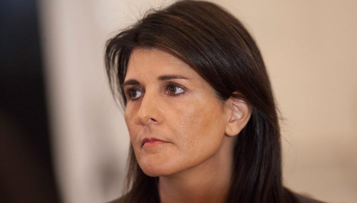 Никки Хейли покинула зал заседаний СБ ООН во время выступления постпреда Сирии