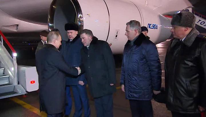 Владимир Путин приехал в Новосибирск