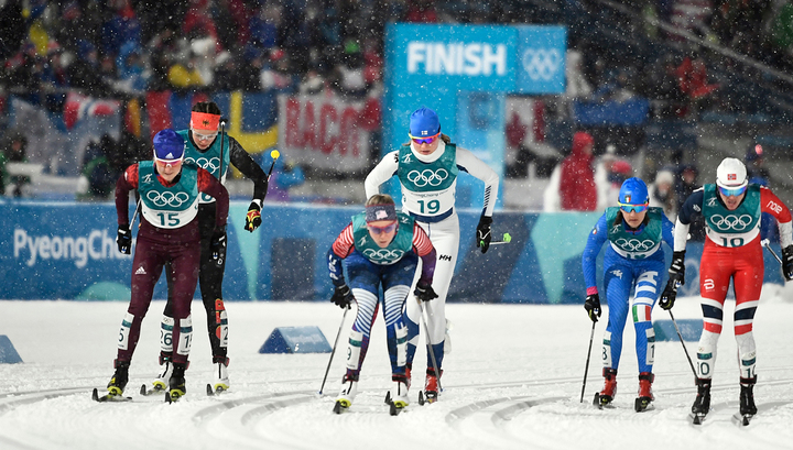 Российские лыжницы в финале командного спринта Олимпиады