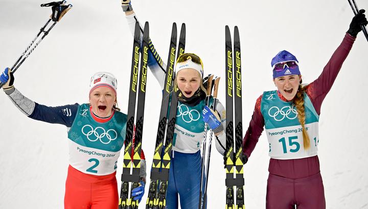 Юлия Белорукова выиграла бронзовую медаль в лыжном спринте