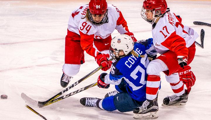 Российские хоккеистки проиграли американкам на Олимпиаде