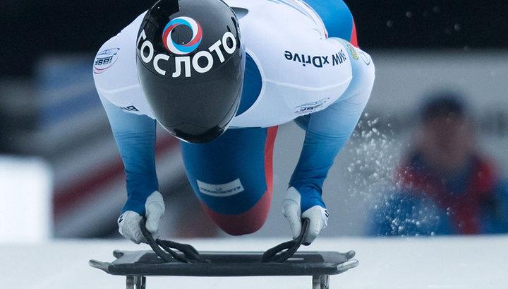 Скелетонист Трегубов занимает второе место после первой попытки на Олимпиаде
