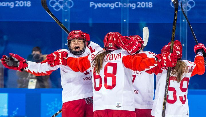 Хоккеистки из России вышли в полуфинал Олимпиады