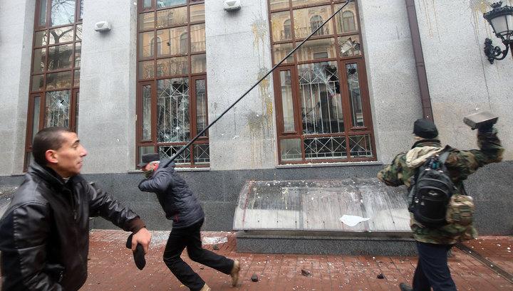 Посольство России на Украине рассчитывает на публичное осуждение погромщиков