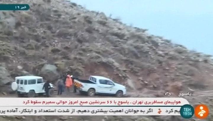 В Иране обнаружили часть обломков самолета