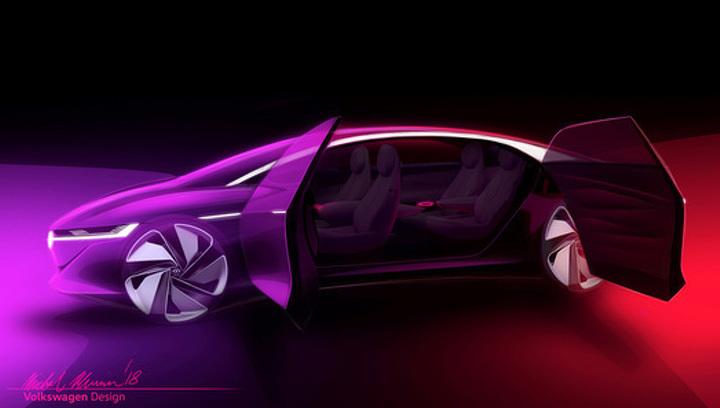 Volkswagen показал концепт премиального электрического седана