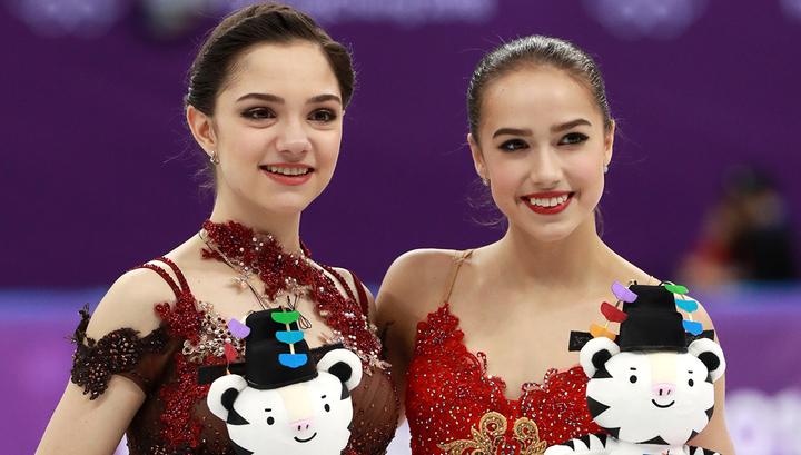 Алина Загитова и Евгения Медведева выиграли турнир фигуристок. Видео