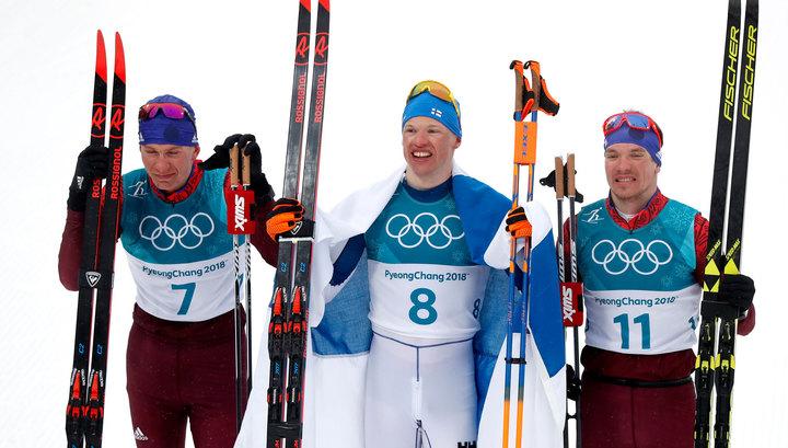 Лыжник из России Большунов завоевал серебро в масс-старте, у Ларькова - бронза