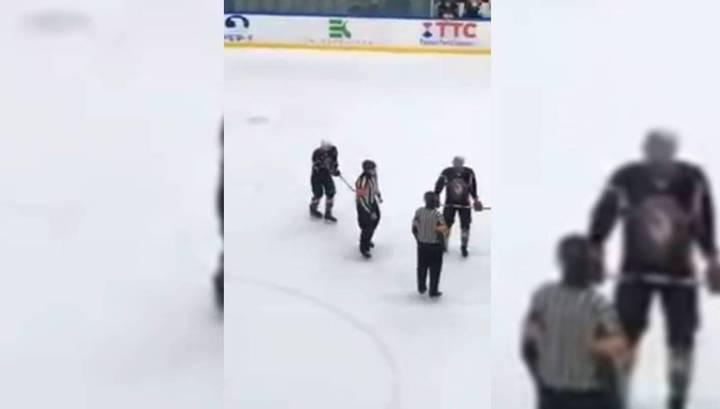Хоккеисты избили судью во время встречи в Набережных Челнах