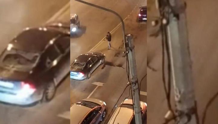 Машину в Петербурге расстрелял пьяный ветеран чеченской кампании