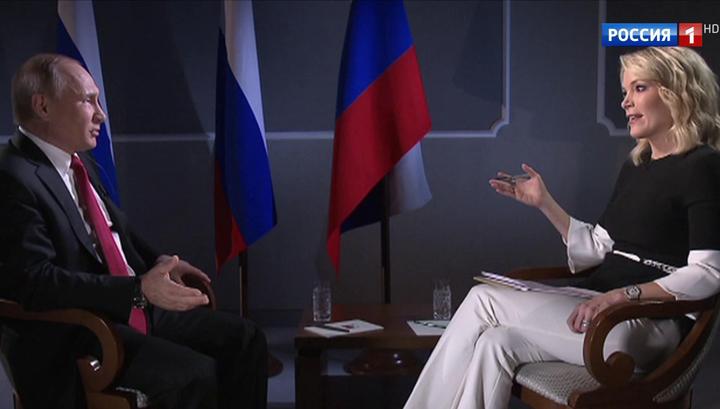 Владимир Путин назвал Мегин Келли виновника новой гонки вооружений