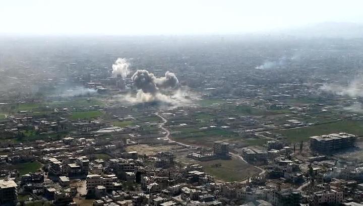 ПВО Сирии отражают ракетные удары США, Британии и Франции