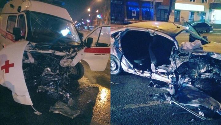 Смертельная авария Lada Vesta и скорой помощи в Перми попала на видео