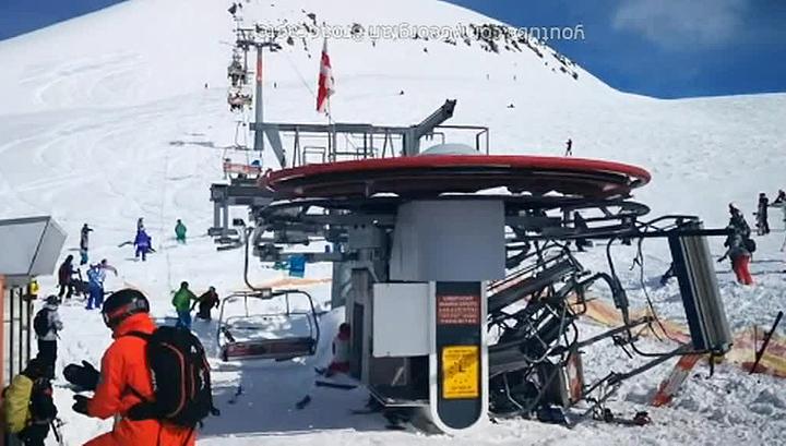 ЧП на канатке в Гудаури: после выписки россиянин вернулся на лыжную трассу
