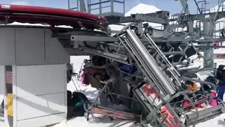 При аварии на подъемнике в грузинском Гудаури пострадали 11 человек
