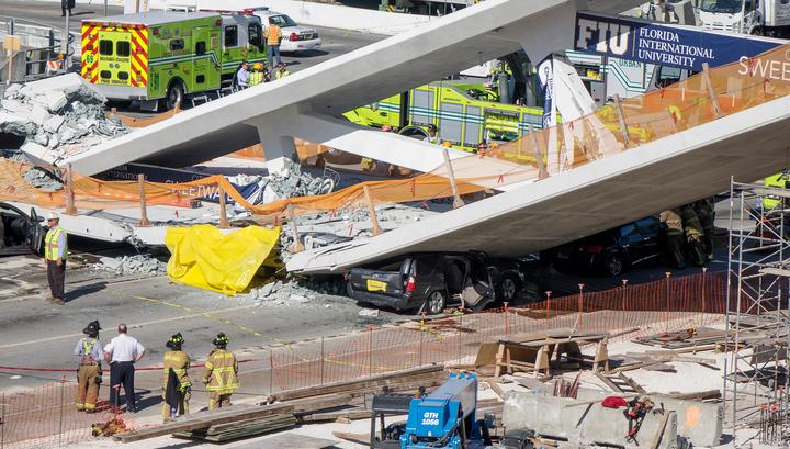 О трещине в мосту в Майами было известно до обрушения