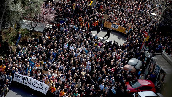 Протесты в Испании: люди требуют достойных пенсий