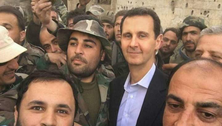 Картинки по запросу Башар Асад посетил Восточную Гуту