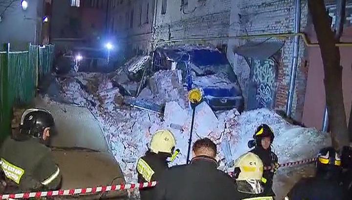 Работы на месте обрушения здания в Москве завершены, пострадавших нет