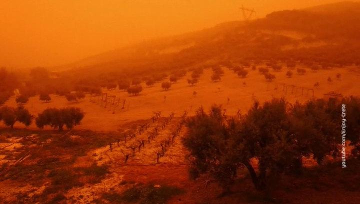 На Крит обрушилась песчаная буря
