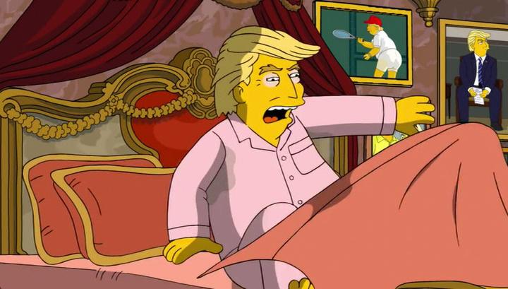 Дональд Трамп стал мишенью для подначек со стороны семейки Симпсонов