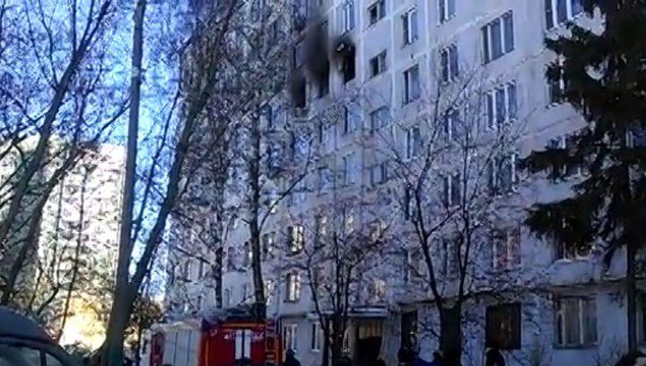 Взрыв самогонного аппарата в московской квартире попал на видео