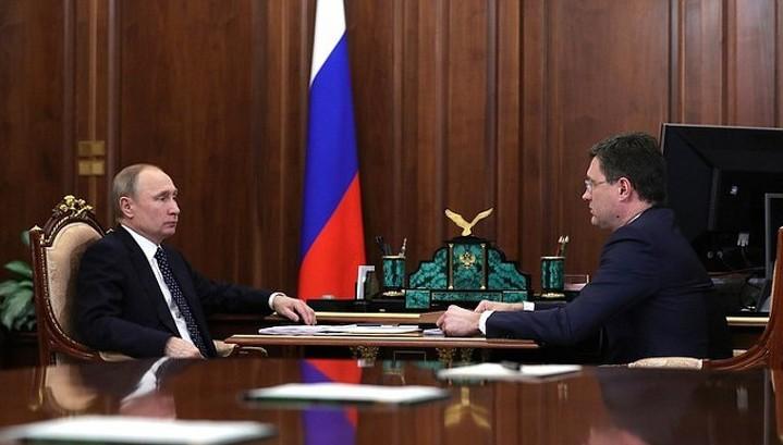 Новак - Путину: инвестиции в ТЭК выросли до 3,5 трлн