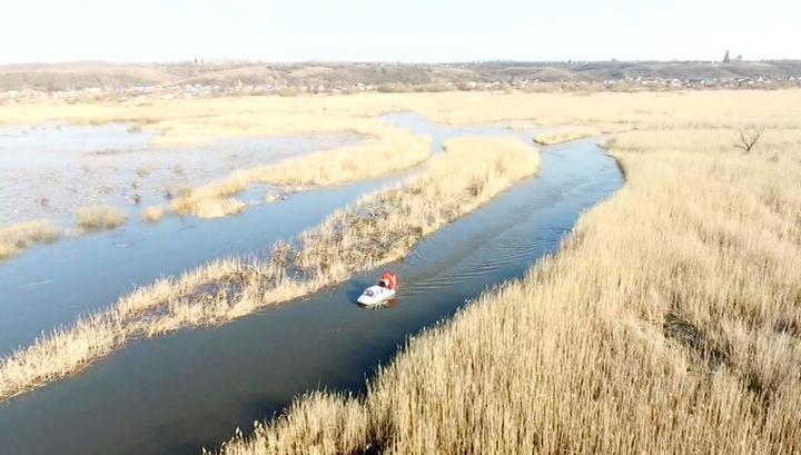 Весенний паводок добрался до Воронежской области