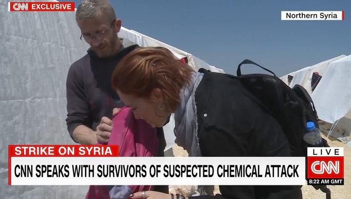 """Корреспондентка CNN обнюхала детский рюкзак в поисках """"сирийского зарина"""""""