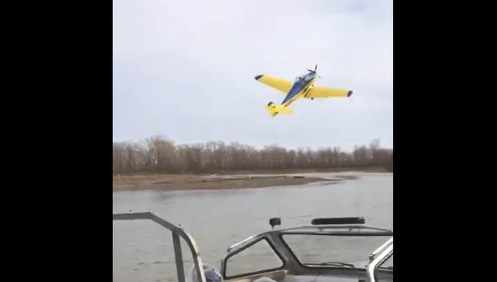Момент крушения самолета в Хакасии попал на видео