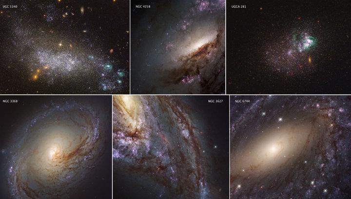 Данные наблюдений в ультрафиолетовых лучах были дополнены архивными изображениями в видимом свете.