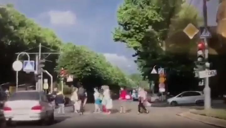 """Краснодарский велосипедист сбил пешехода на """"зебре"""""""