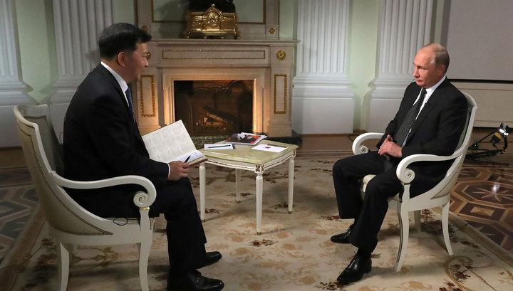 Совпадение позиций: Путин дал большое интервью китайским СМИ