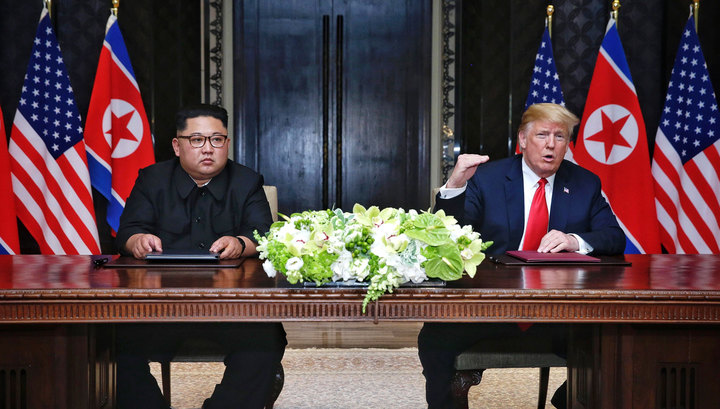 США и КНДР подписали совместный документ по итогам встречи в Сингапуре
