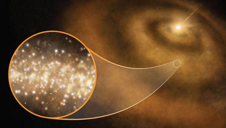 Алмазы в протопланетной пыли оказались источником особых электромагнитных волн, принятых земными телескопами.