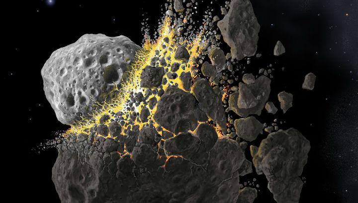 Ранняя история Солнечной системы богата катастрофическими столкновениями.