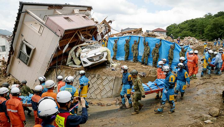 В Японии растет число жертв тайфуна