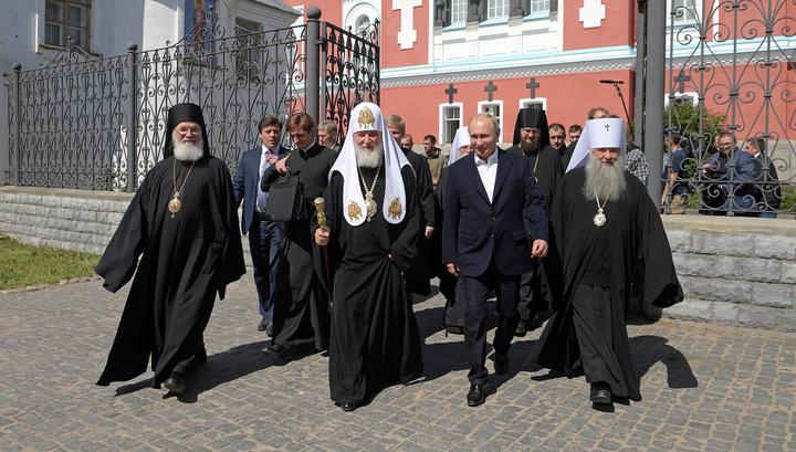 Владимир Путин прибыл на Валаам
