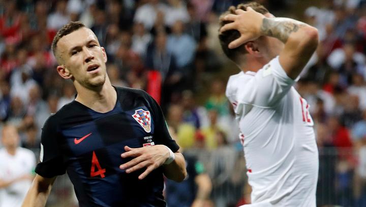 Футболисты Хорватии вышли вперед в полуфинальном матче с Англией