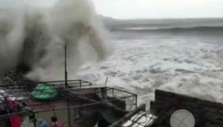 Тайфун «Мария» свирепствует в Китае