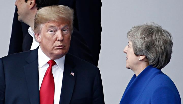 Трамп в Великобритании: два дня на звонки, встречи и игру в гольф