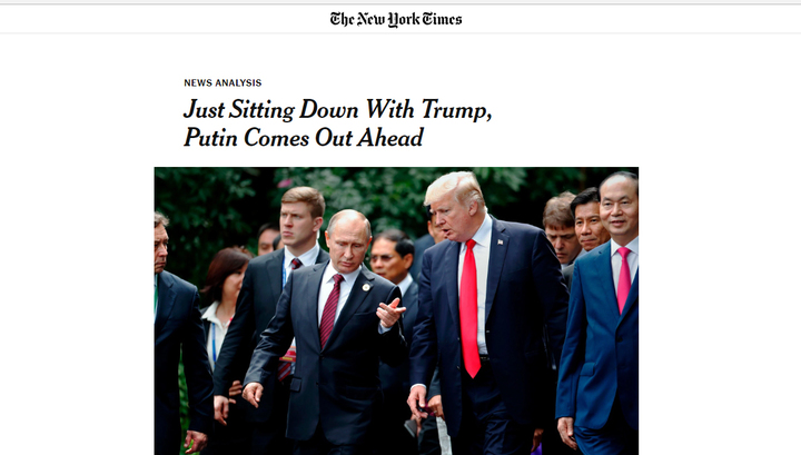 Американские СМИ не выбирают выражения по поводу саммита в Хельсинки