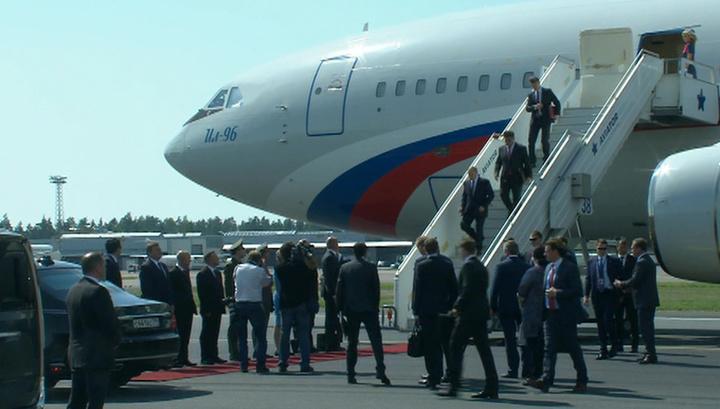 Президент России прилетел в столицу Финляндии
